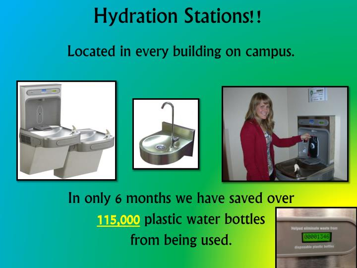 Hydration Stations!!