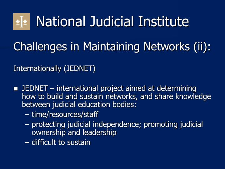 National Judicial Institute