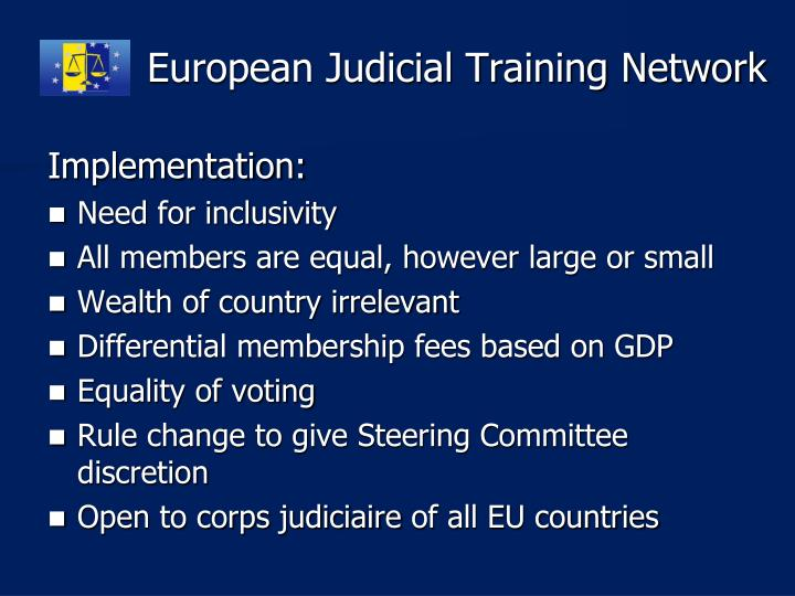 European Judicial Training Network