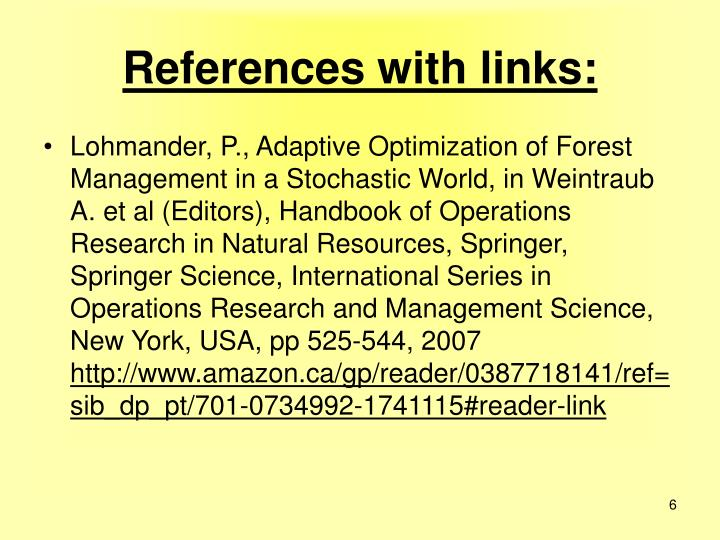 References with links: