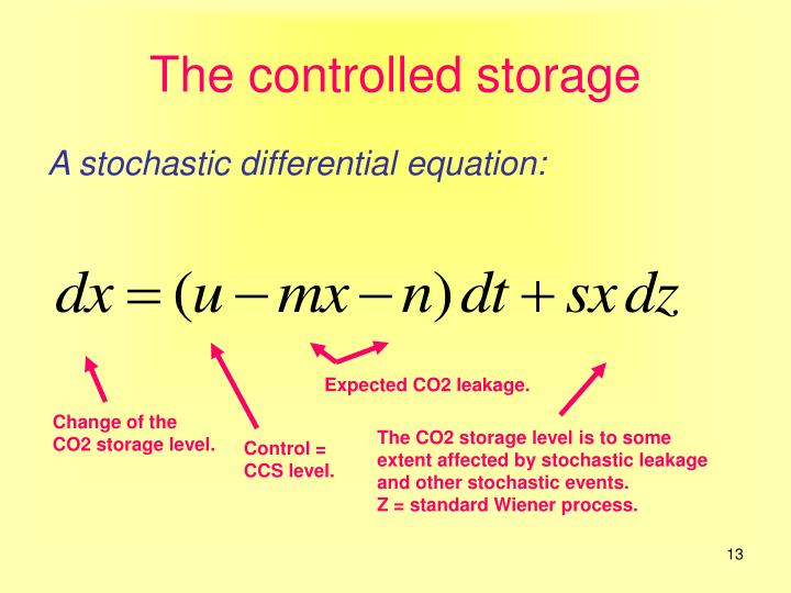 The controlled storage