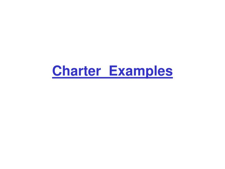Charter  Examples