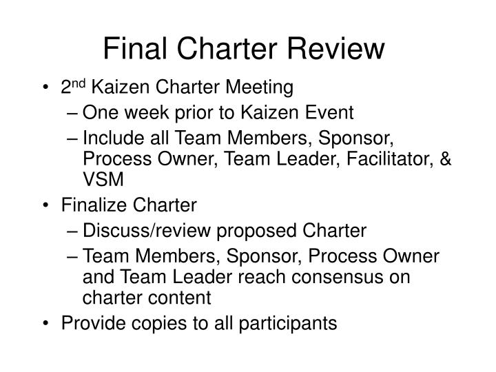 Final Charter Review