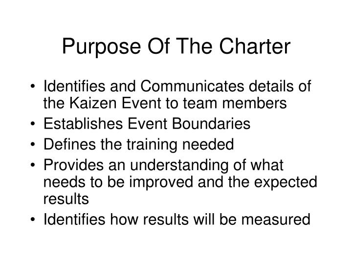 Purpose Of The Charter