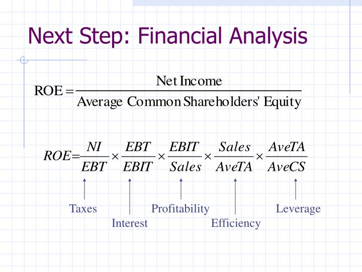 Next Step: Financial Analysis