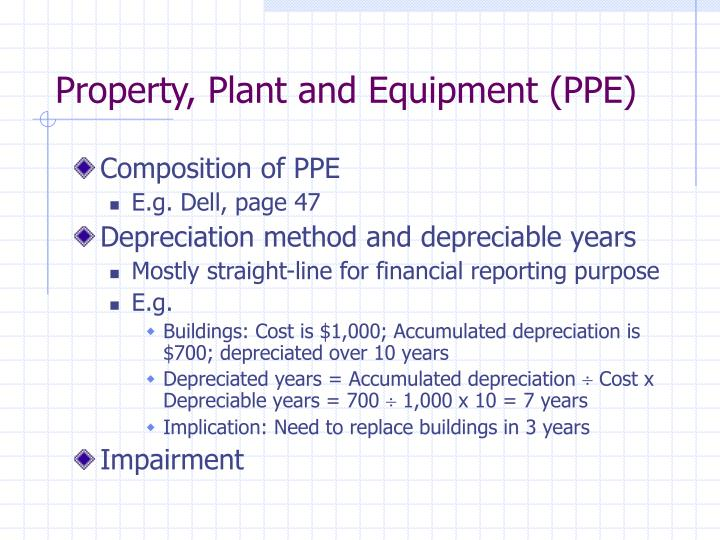 Property, Plant and Equipment (PPE)