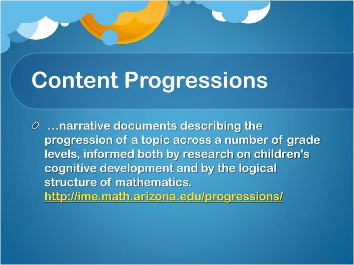 Content Progressions