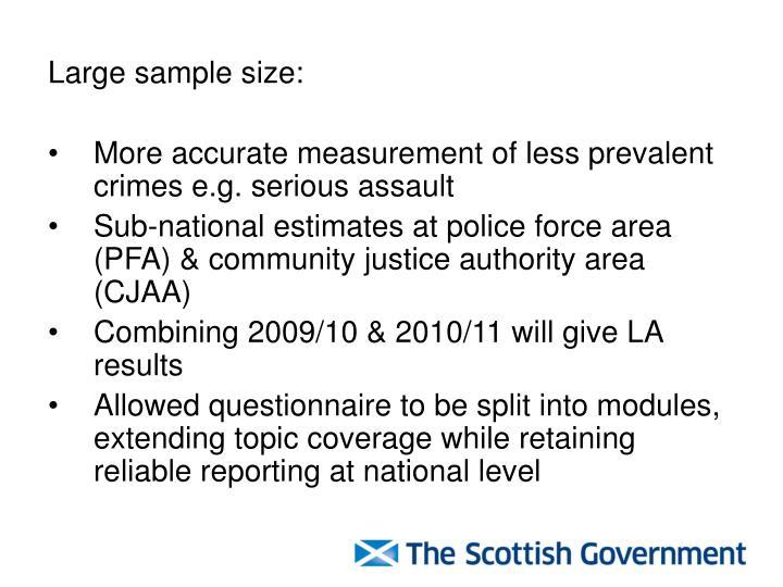 Large sample size: