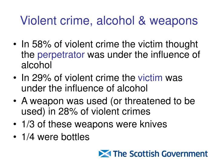 Violent crime, alcohol & weapons