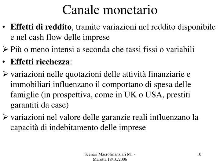 Canale monetario
