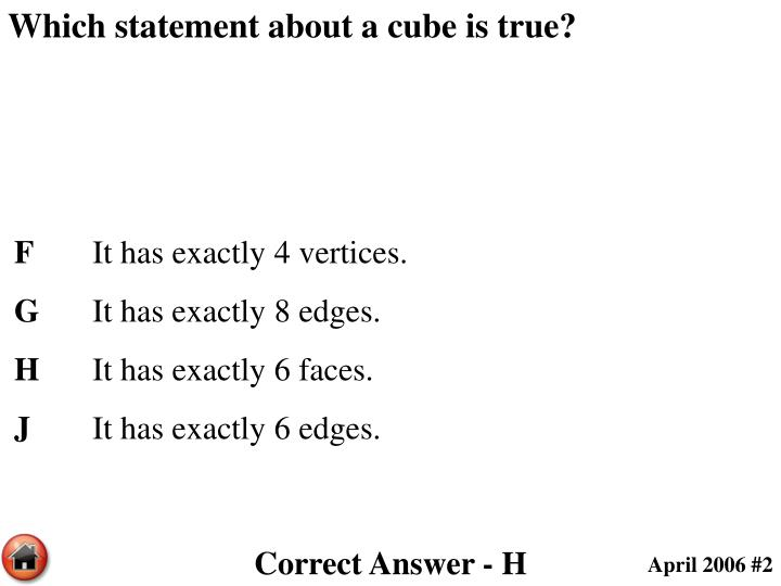 Which statement about a cube is true?