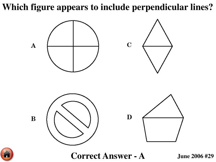 Which figure appears to include perpendicular lines?