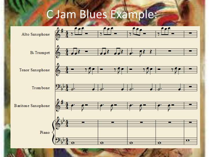 C Jam Blues Example:
