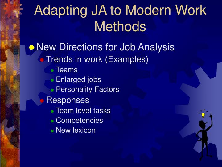 job analysis with ja plan Explore the option of an affordable, online software program that automates   the terms goja®, autogoja®, and guidelines oriented job analysis® are  j  ob e x pe rts 80% confidence & 10% margin 90% confidence & 10% margin.