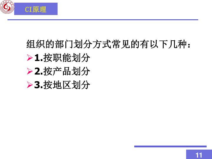 组织的部门划分方式常见的有以下几种: