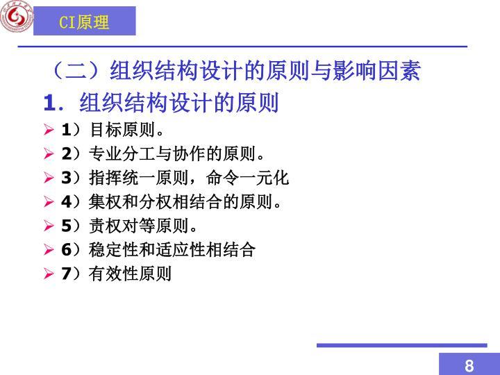 (二)组织结构设计的原则与影响因素