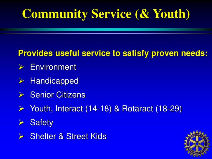 Community Service (& Youth)