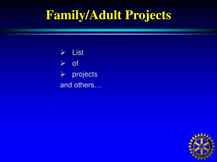 Family/Adult Projects