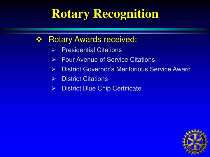 Rotary Recognition