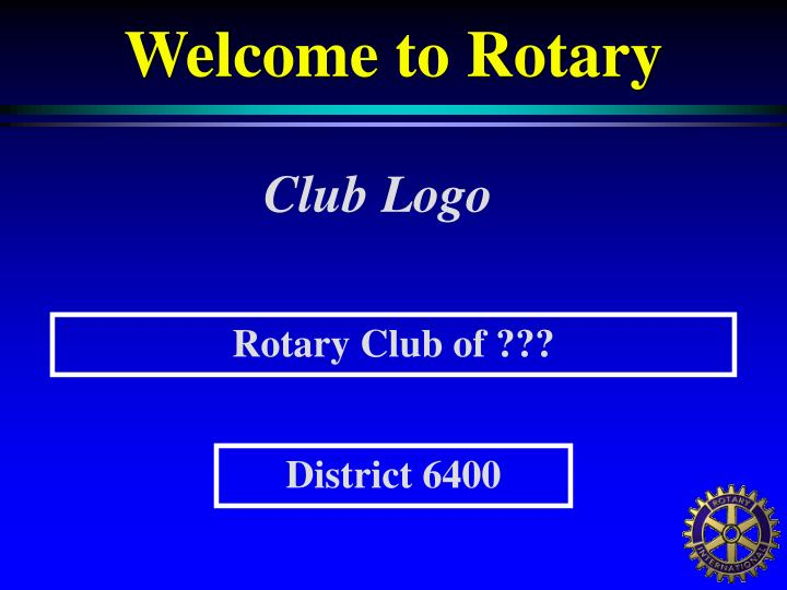 Welcome to rotary1