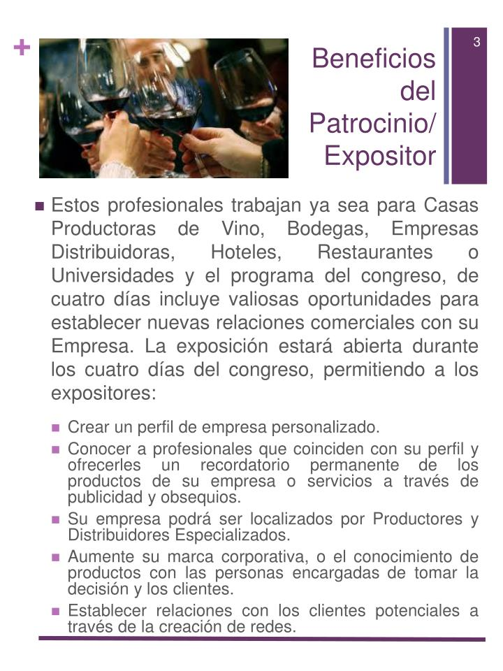 Beneficios del patrocinio expositor