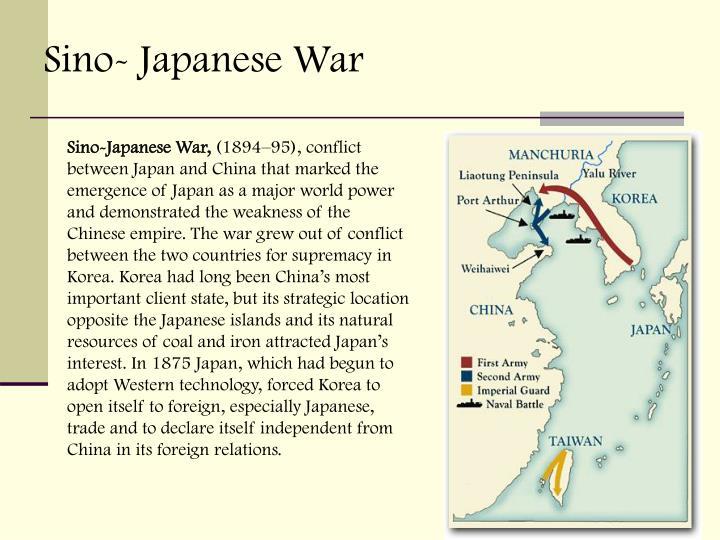Sino- Japanese War