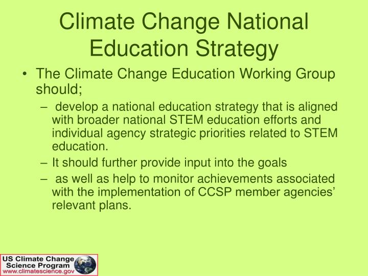 Climate Change National Education Strategy