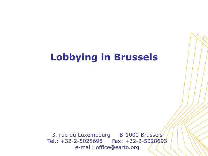 3, rue du Luxembourg     B-1000 Brussels