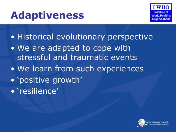 Adaptiveness