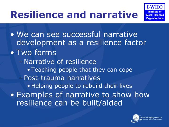 Resilience and narrative