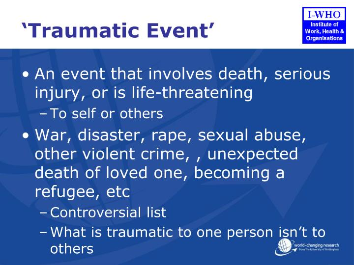 Traumatic event