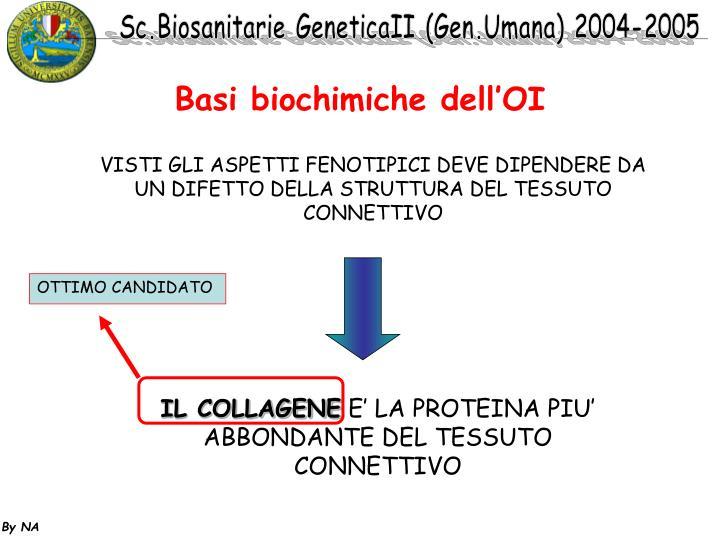 Basi biochimiche dell'OI