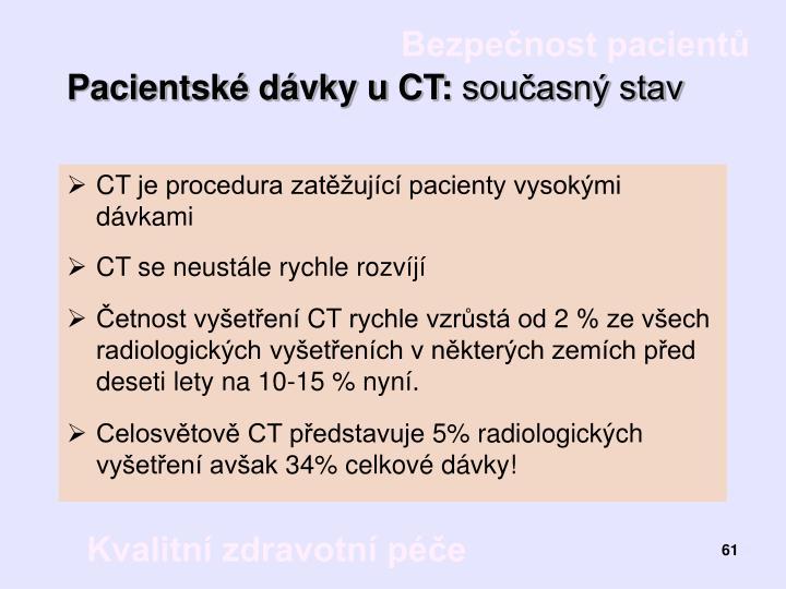 Pacientské dávky u CT: