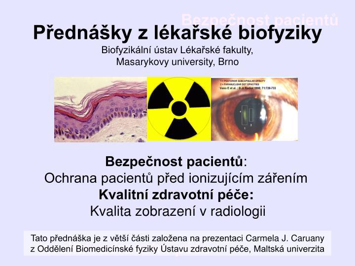 Přednášky z lékařské biofyziky