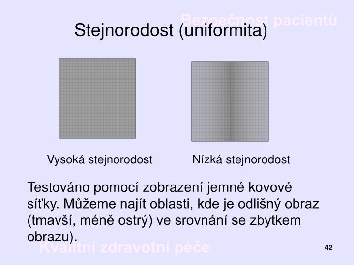 Stejnorodost (uniformita)