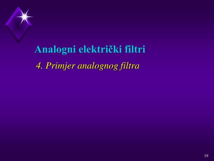 4. Primjer analognog filtra