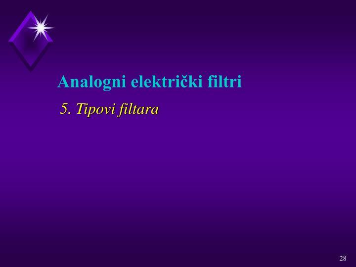 5. Tipovi filtara