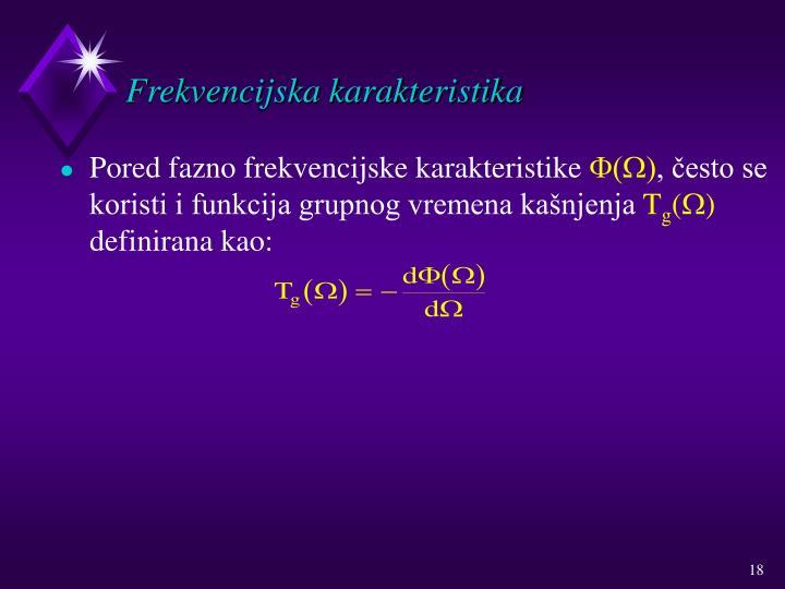 Frekvencijska karakteristika