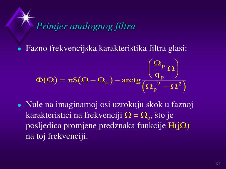 Primjer analognog filtra