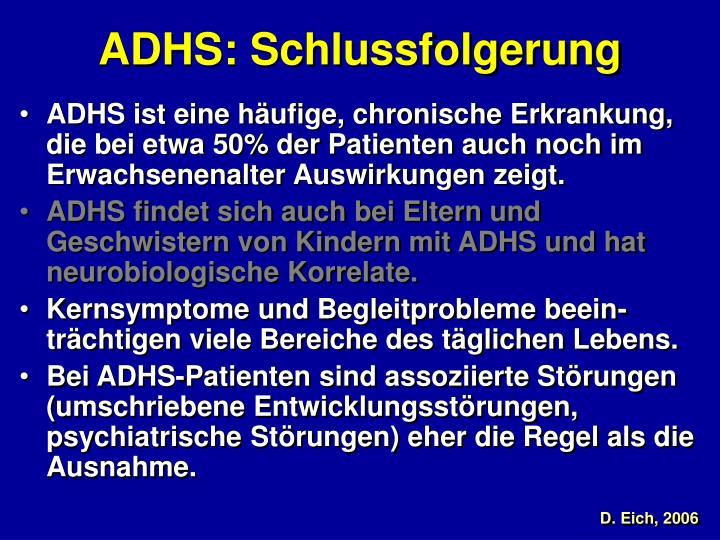 ADHS: Schlussfolgerung