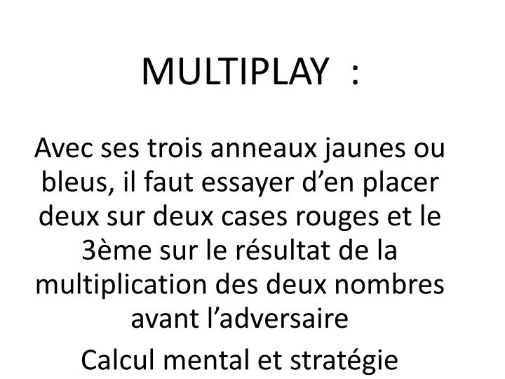MULTIPLAY  :