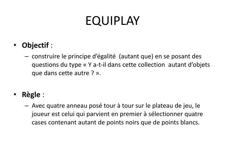 EQUIPLAY
