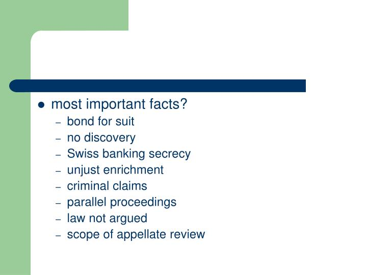 most important facts?