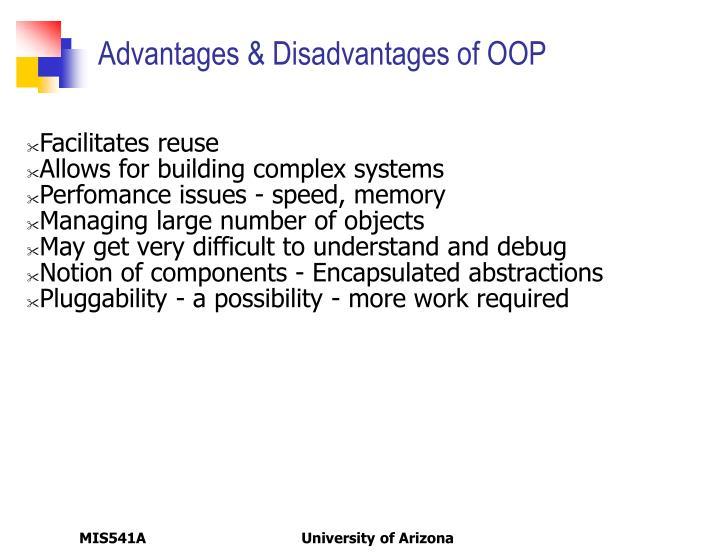Advantages & Disadvantages of OOP