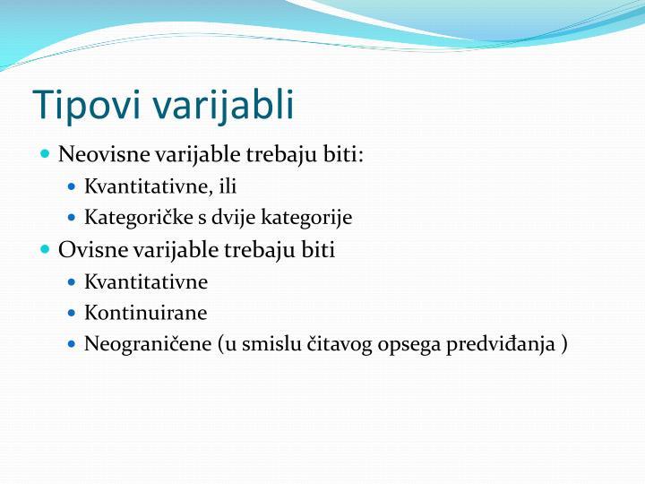 Tipovi varijabli
