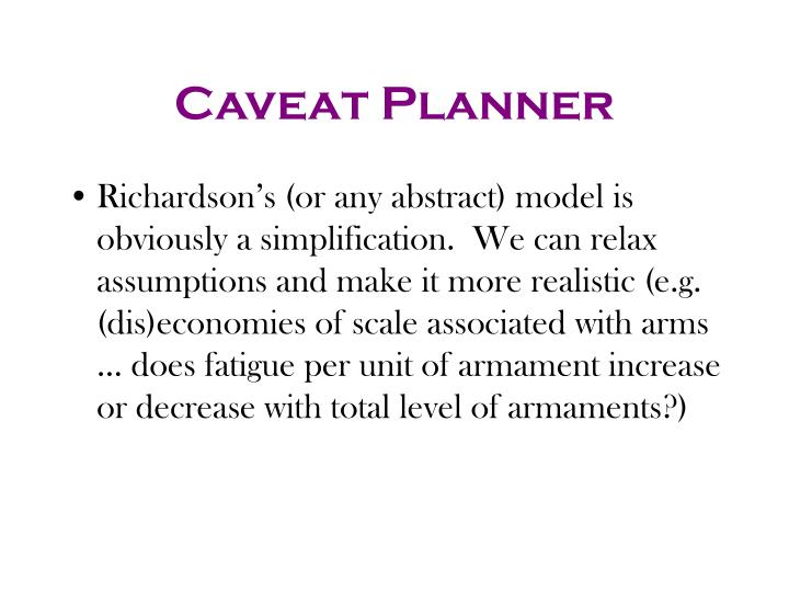 Caveat Planner
