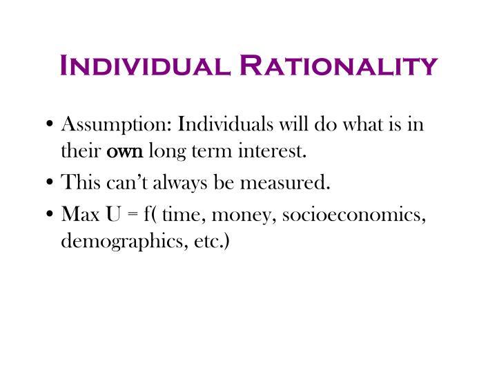 Individual Rationality