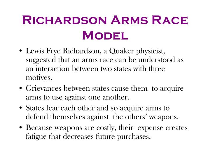 Richardson Arms Race Model