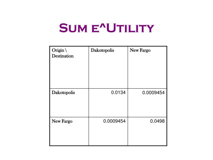 Sum e^Utility