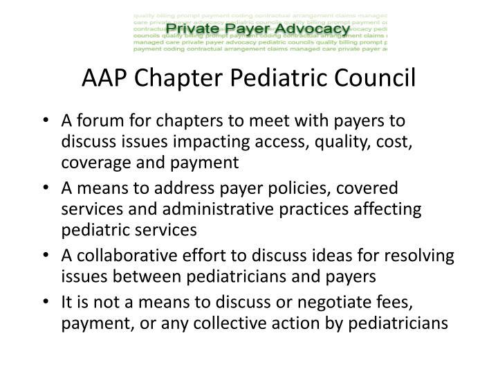 AAP Chapter Pediatric Council